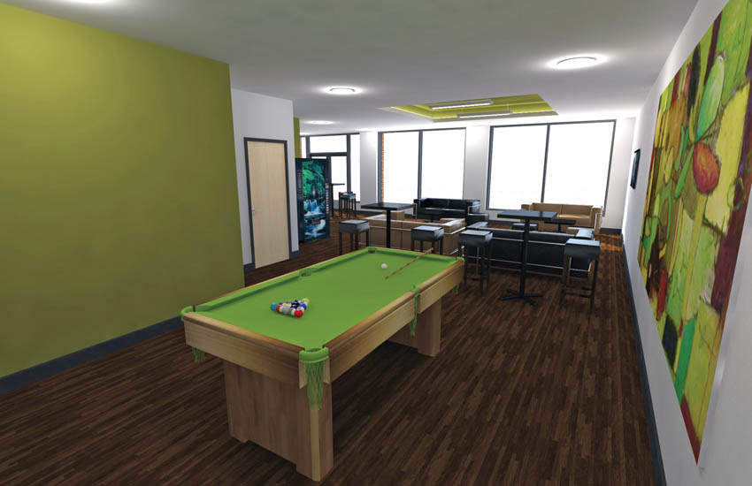 Nottingham_student_accommodation_russell_view_communal_space_pool_table