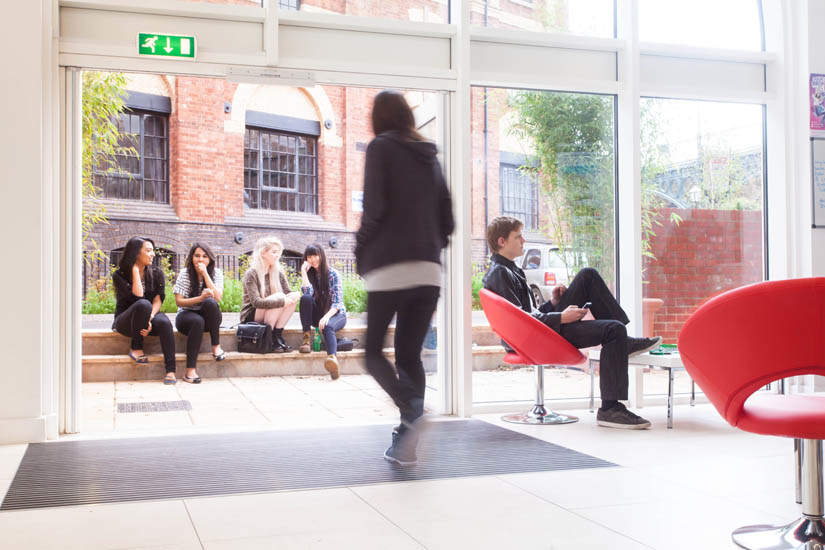 Exeter_student_accommodation_iron_bridge_studios_entrance_2_courtyard