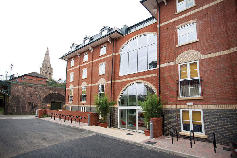 Exeter_student_accommodation_iron_bridge_studios_entrance_2